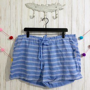 Old Navy plus size linen striped shorts